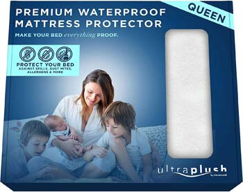 9. 100% Waterproof Premium Queen Mattress Protector