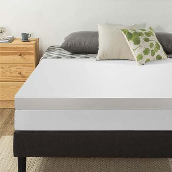 5. Best Price Mattress 4 Inch Memory Foam Topper with Cover