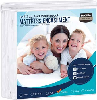 5. Utopia Bedding Zippered Mattress Encasement