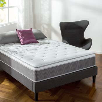 9. Zinus 12 Inch Support Plus Pocket Spring Hybrid Mattress with Euro Top
