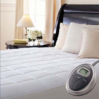 5. Sunbeam Premium Luxury Quilted Heated Electric Mattress Pad