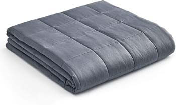 4. YnM Weighted Blanket — Oeko-Tex Certified Cotton Material with Premium Glass