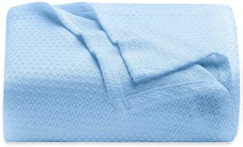 7. LAGHCAT Cooling Blankets for Sleeping, Cooling Summer Blanket Night Sweats (Light Blue, 79 x 90 Inch)