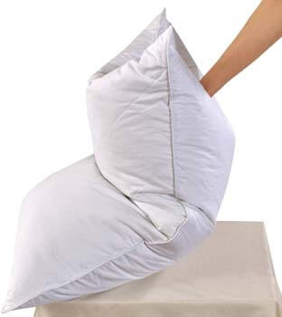 3. White Goose Feather Bed Pillow