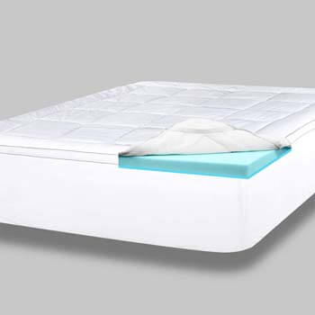 2. ViscoSoft 4 Inch Pillow Top Memory Foam Mattress Topper Queen