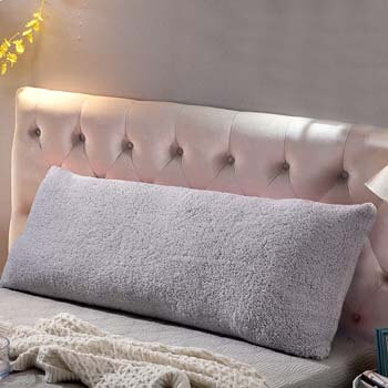 8. Reafort Ultra Soft Sherpa Body Pillow Cover/Case with Zipper Closure 21