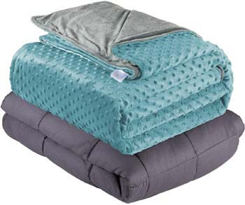 8. Quility Premium Adult Weighted Blanket & Removable Cover