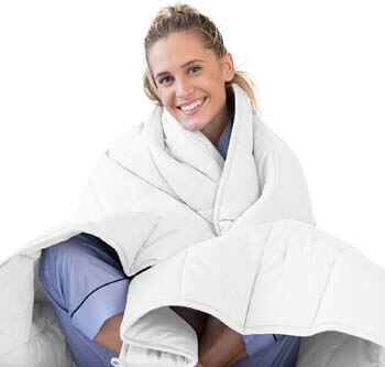 10. Luna Adult Weighted Blanket   Individual Use - Queen Size Bed