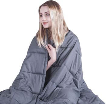 2. COMHO Weighted Blanket Cotton Cooling Heavy Blanket