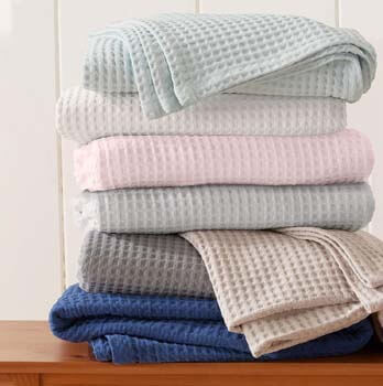 4. Cotton Waffle Weave Thermal Blanket