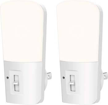 8. LOHAS Dimmable Night Light, Plug-in LED Night Light Dusk to Dawn Light.