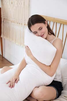 9. EVOLIVE Ultra Soft to Medium Density Microfiber Body Pillow, Long Side Sleeping Pillow for Adult and Pregnancy (White, 20