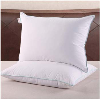 2. Homelike Moment Down Feather Pillows for Sleeping