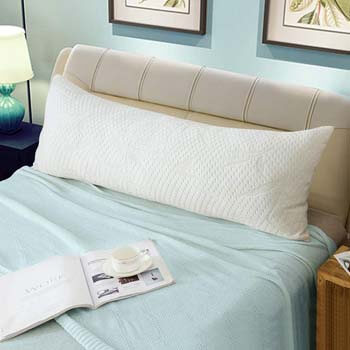 6. WhatsBedding Full Body Pillows for Adults -Removable Zippered Bamboo Cover Breathable Cooling Bed Body Pillow Long Pillow for Side Sleeper-20 x 54