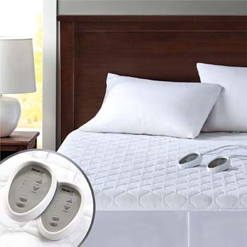 4. Dual Control Heated Mattress Pad Queen Size