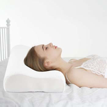 6. Power of Nature Memory Foam Pillow for Sleeping