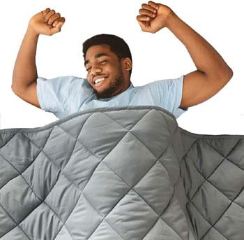 9. Hypnoser Adult Weighted Blanket - Queen Size Bed