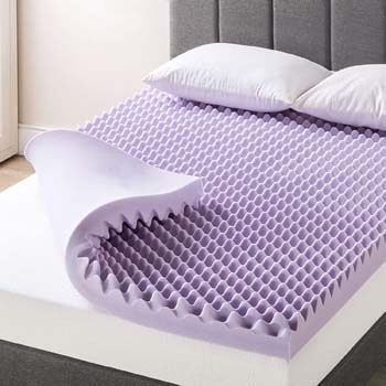7. Egg Crate Memory Foam Mattress Topper
